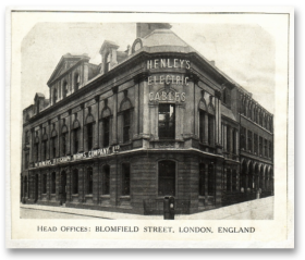 Old WT Henley Building in London
